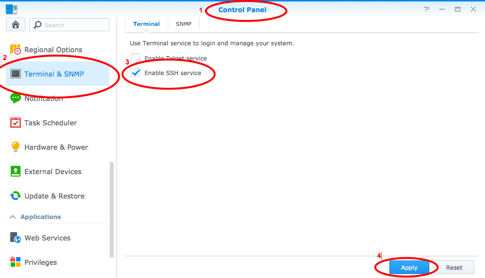 How to enable SSH access to Synology DiskStation - Richard Sumilang