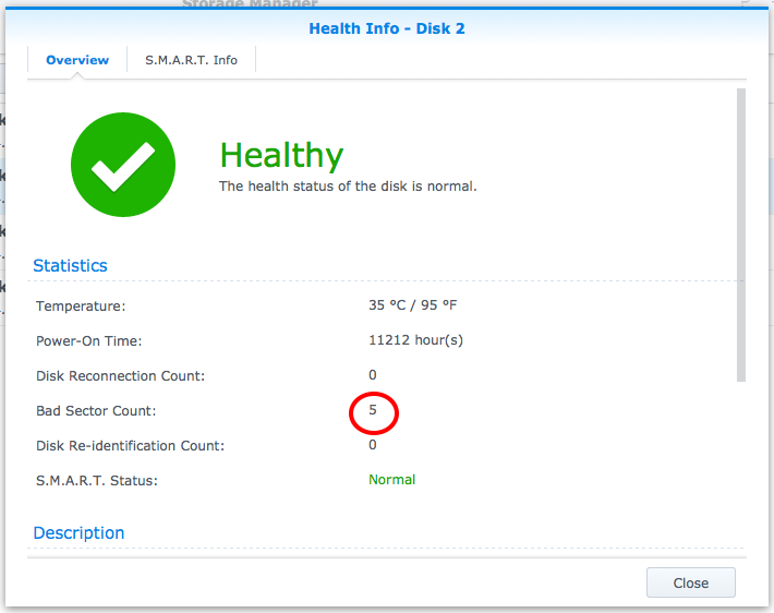 Replace a bad hard drive on a Synology DiskStation RAID 5